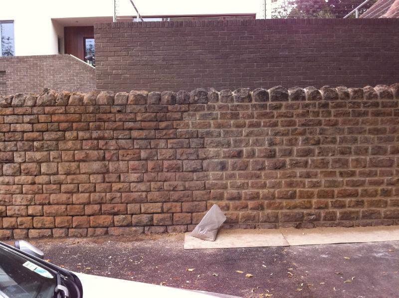 Bulwell Wall Halfway Through